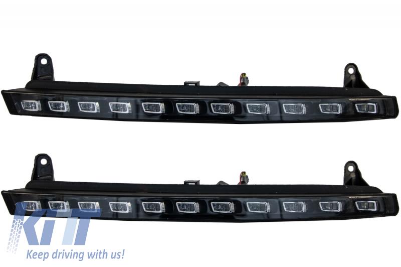Lumini de zi dedicate LED + semnalizare LED Audi Q7 4L (2006-2009) OEM Facelift Design