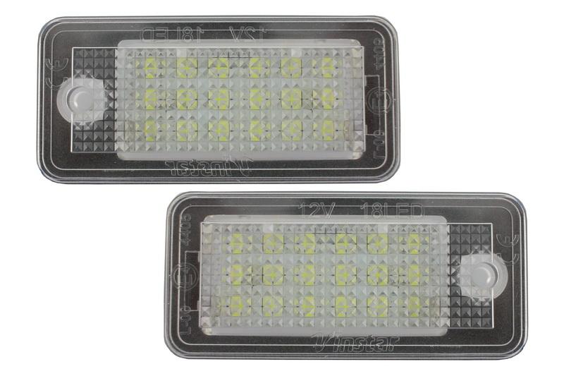 Leduri pozitie numar - lampi pozitie numar audi A3 8P, A4 B7, A6 05, A8 03,Q7 ,RS4 , RS6