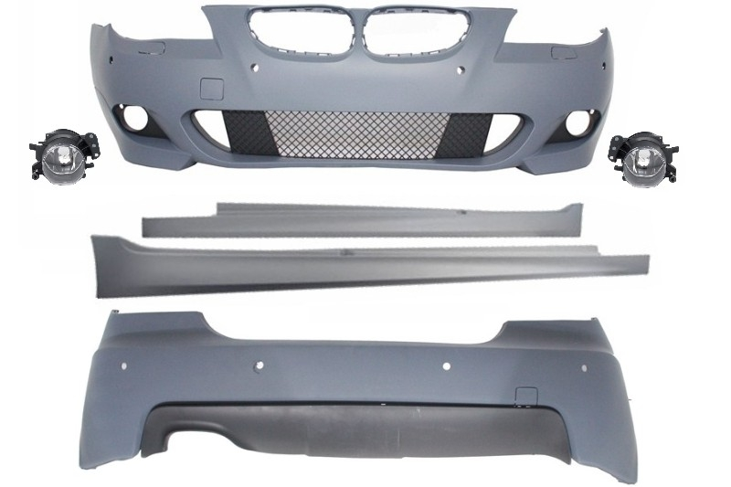 Kit Exterior BMW Seria 5 E60 (2003-2007) M-Technik Design cu PDC 24mm - CBBME60MTPDC24