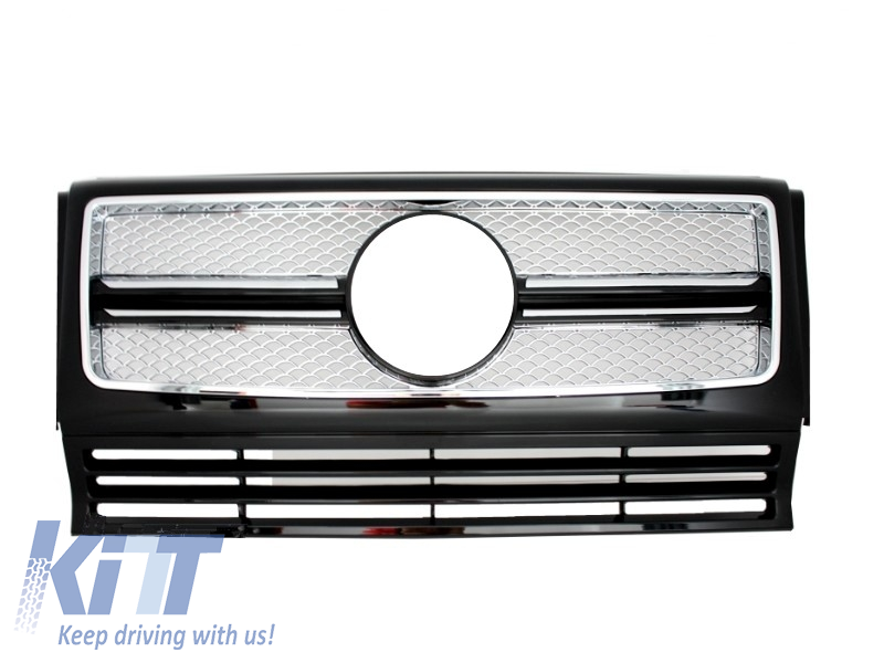 Grila Centrala Mercedes Benz W463 G-Class (1990-2012) 2012 G65 AMG Look Chrome Edition