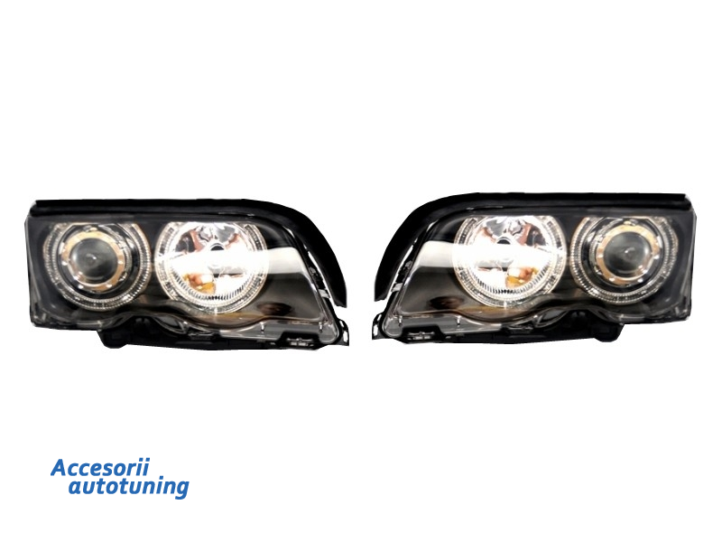 Faruri Angel Eyes BMW Seria 3 E46 (1998-2001) Black Edition