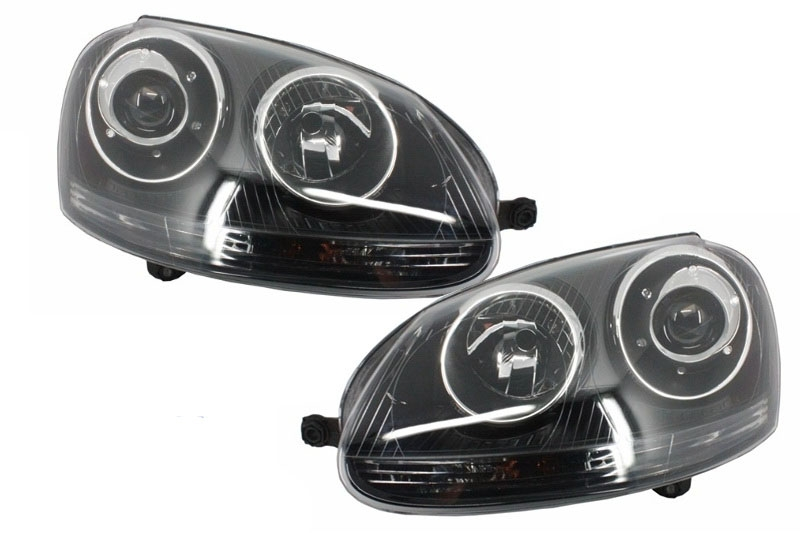 Faruri Volkswagen Golf 5 V (2003-2007) RHD GTI R32 Design Black - HLVWG5GTIBRHD