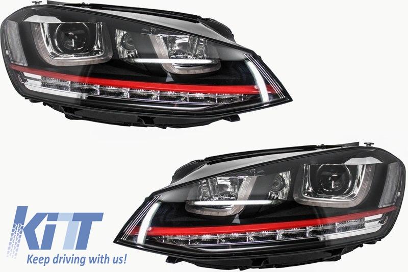 Faruri 3D LED Volkswagen Golf 7 VII (2012-2017) RHD R20 GTI Design Semnal LED