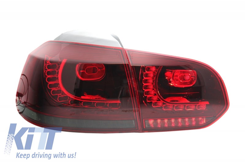 Stopuri LED Volkswagen Golf VI (2008-up) R20 Design Rosu Fumuriu