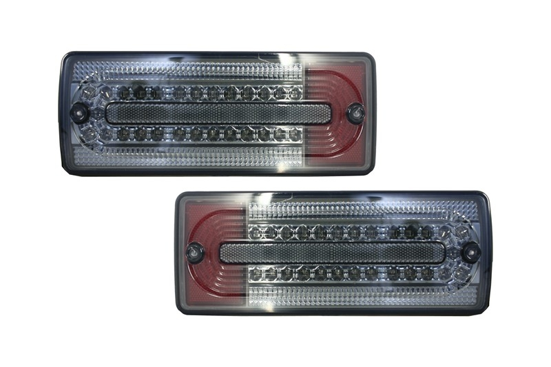 Stopuri Full LED Mercedes Benz W463 G-Class (1989-2015) Fumuriu/Rosu