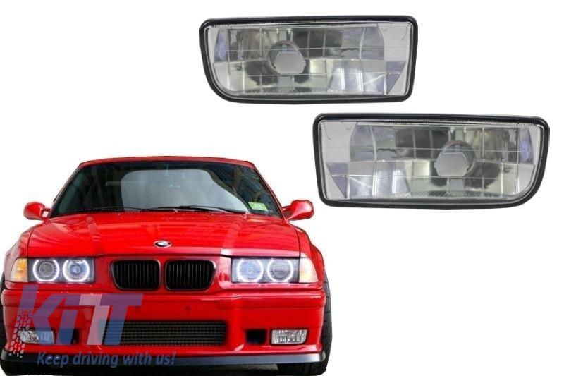 Proiectoare faruri ceata BMW Seria 3 E36 1991-2000 Crom - NLB01DC