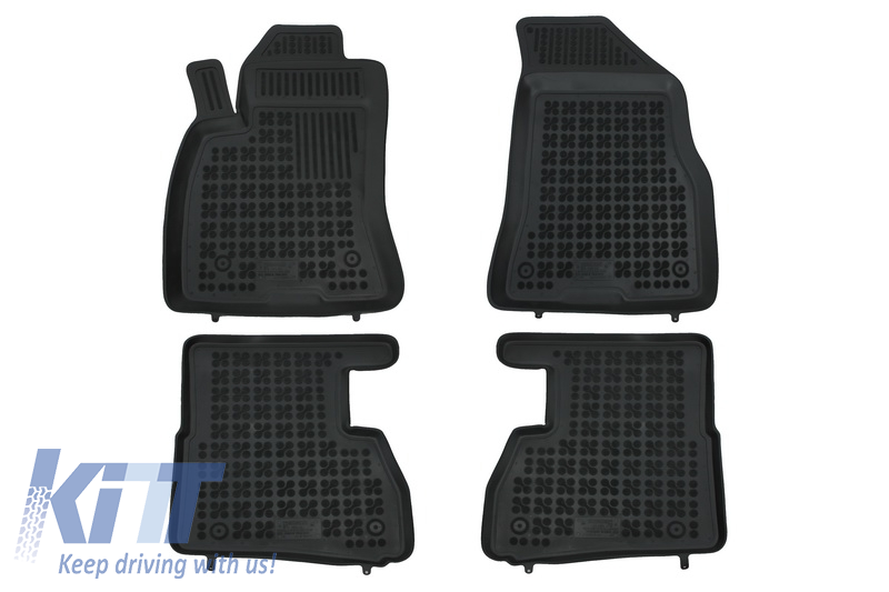Covorase Presuri Auto Negru din Cauciuc FIAT Doblo II 2009-; OPEL Combo C 2011-
