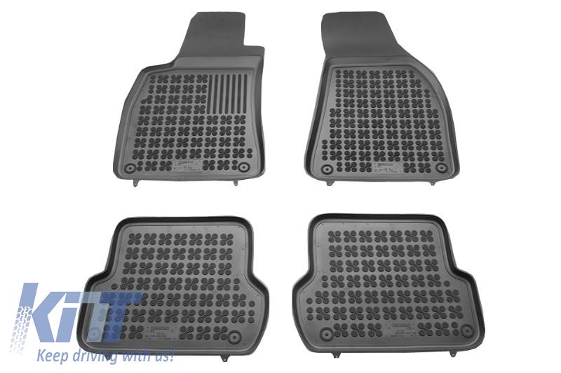 Covorase Presuri Auto Negru din Cauciuc SEAT Exeo 2008-  Floor mat