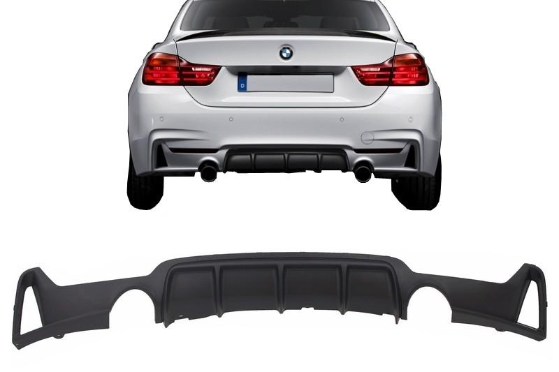 Difuzor Bara Spate Cu Evacuare Dubla BMW F32 F33 F36 4 Series M Performance Design (2013-) - RDBMF32MPDSO