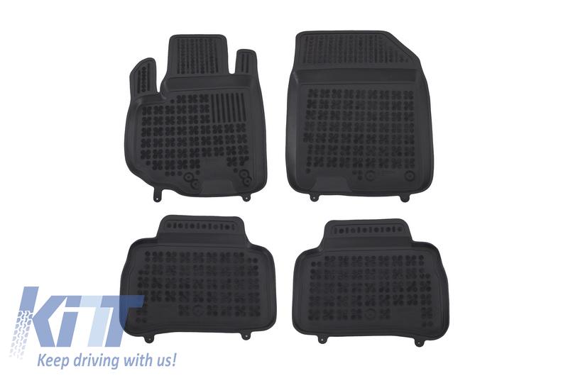 Covorase Presuri Auto Negru din Cauciuc Suzuki Vitara IV 2014-