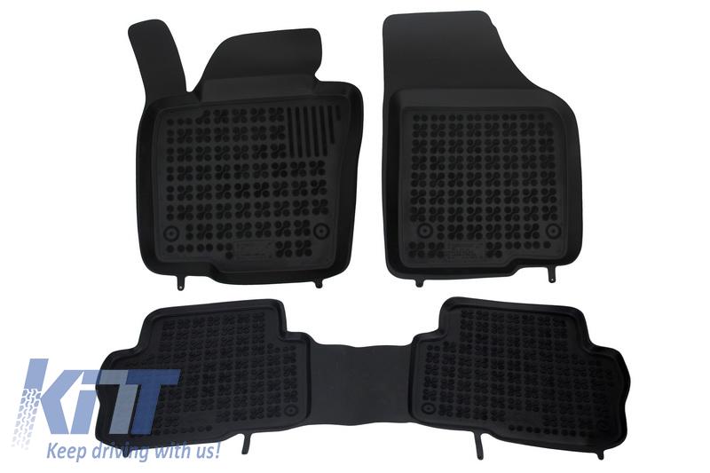 Covorase Presuri Auto Negru din Cauciuc VW Sharan II 2010+