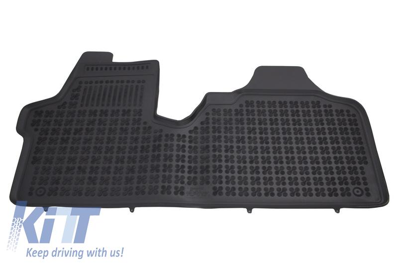 Covorase Presuri Auto Negru din Cauciuc Citroen Jumpy II Fiat Scudo II Peugeot Expert II