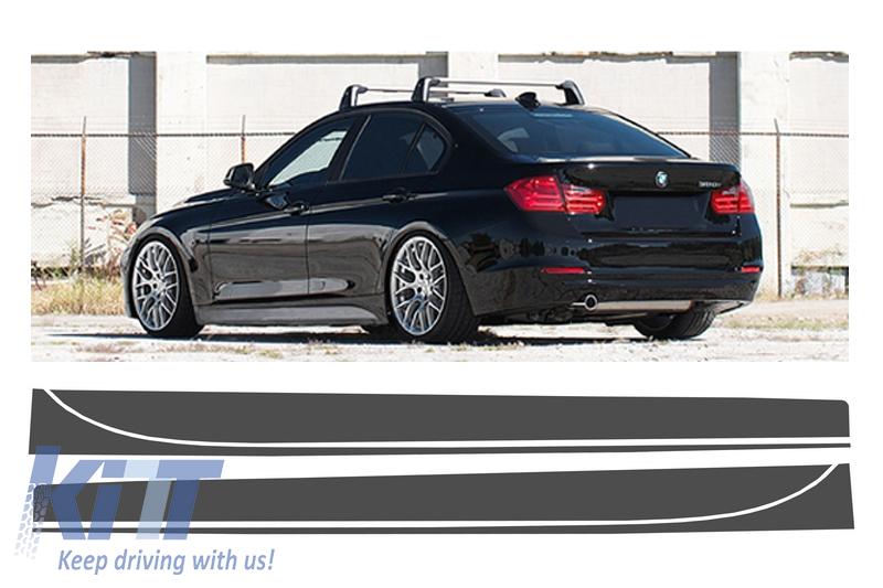 Stickere Laterale Gri Inchis BMW Seria 3 F30 F31 (2011-up) M-Performance Design