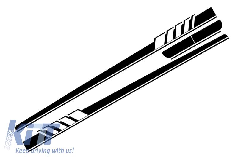 STICKERE LATERALE NEGRU MAT MERCEDES BENZ Coupe C205 (2014-)