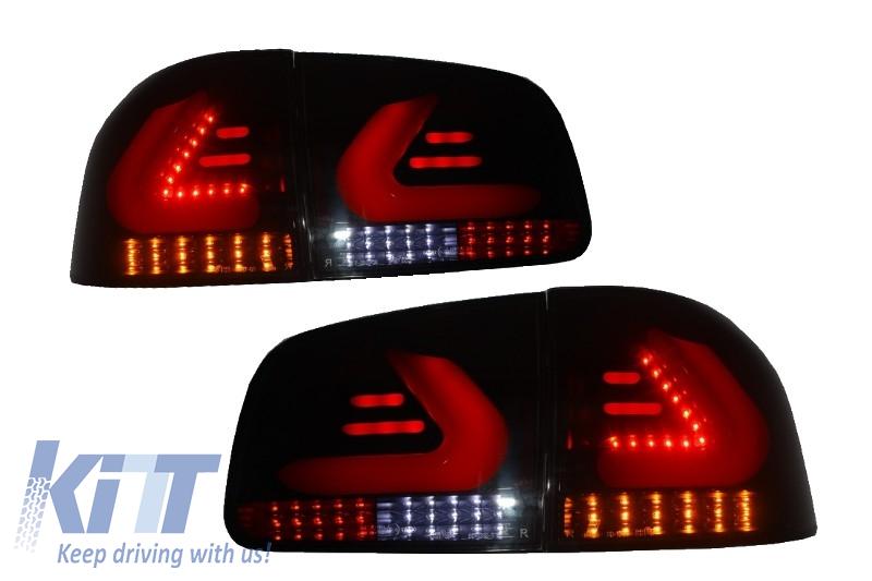 Stopuri LED VW Touareg Lightbar negru fumuriu CAR DNA (2002 - 2010)
