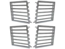 ventilation grill Peugeot 307_chrome