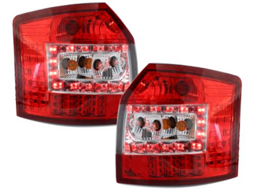 Stopuri LED Audi A4 B6 8E Avant 01-04  rosu/cristal