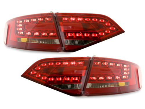 Stopuri LED Audi A4 B8 8K Lim. 07+_Rosu Cristal