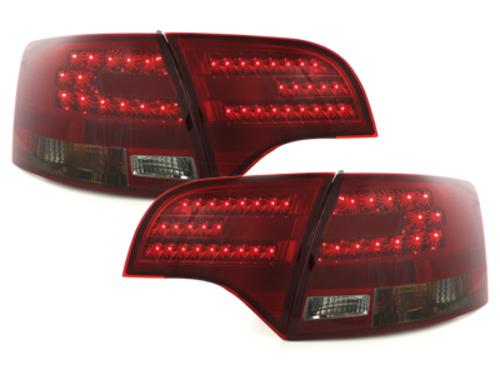 Stopuri LED Audi A4 Avant B7 04-08 rosu fumuriu