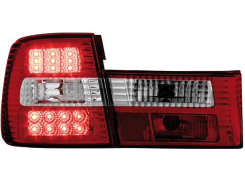 Stopuri LED BMW E34 Lim. 85-95  rosu/cristal