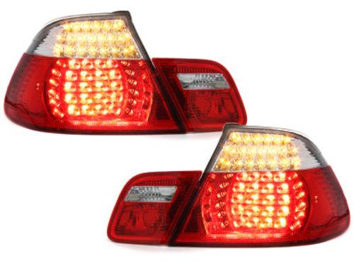 Stopuri LED BMW E46 Cabrio 00-05  rosu/cristal 4usi - RB20CLRC
