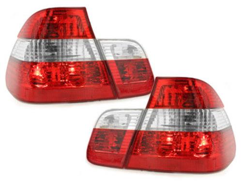 Stopuri BMW E46 Lim. 98-01  rosu/cristal 4-usi