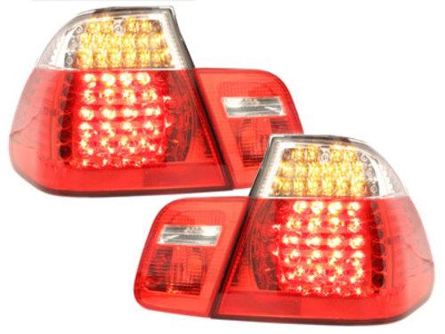 Stopuri LED BMW E46 4D 98-01 RoÈ™u/Cristal-