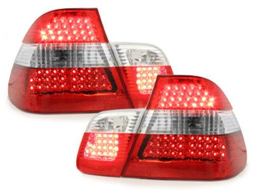 Stopuri LED BMW E46 Lim. 98-01  rosu/cristal 4-usi