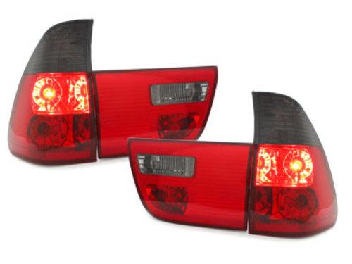Stopuri BMW X5 00-02  4-piese  rosu/fumuriu