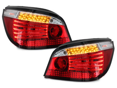 LED taillights BMW E60 04.03-03.07_red/crystal