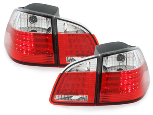Stopuri LED BMW E61 avant 04-10 rosu/cristal