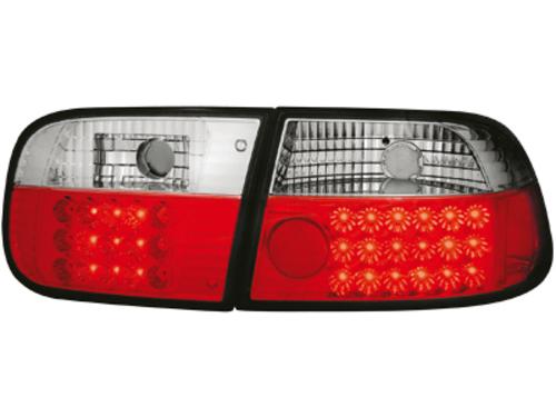 Stopuri LED Honda Civic 2+4T 92-95  rosu/cristal