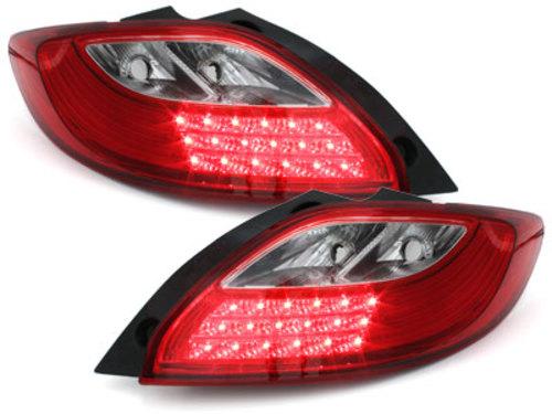 Stopuri LED Mazda 2 07-10_rosu cristal