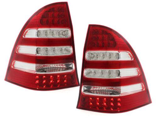 Stopuri LED Mercedes Benz C W203 00-12/04 rosu/cristal
