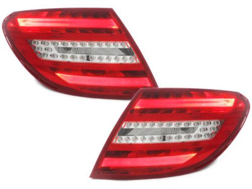 Stopuri LED Mercedes Benz C-Class W204 06-10 rosu / clar