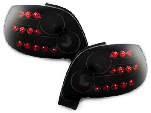 Stopuri LED Peugeot 206 CC 98-09 negru / fumuriu