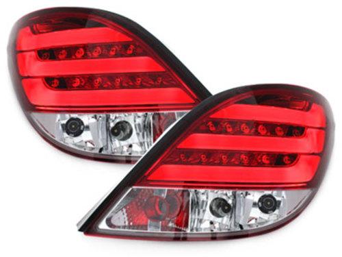 Stopuri LED Peugeot 207 06-05.09 rosu cristal