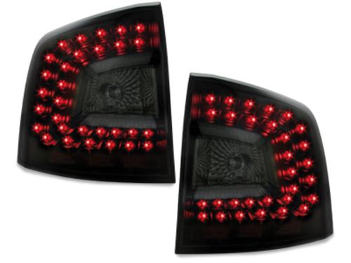 Stopuri LITEC LED Skoda Octavia 1Z 04+  negru/fumuriu