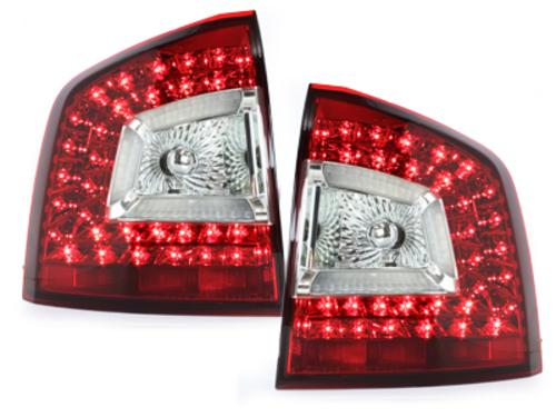Stopuri LITEC LED Skoda Octavia 1Z 04+  rosu/cristal