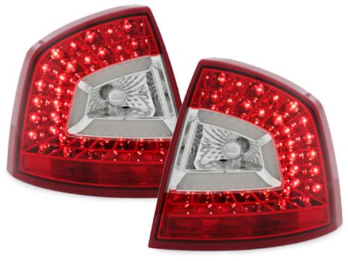 Stopuri Litec LED Skoda Octavia 1Z Lim. 04-08 rosu / clar-