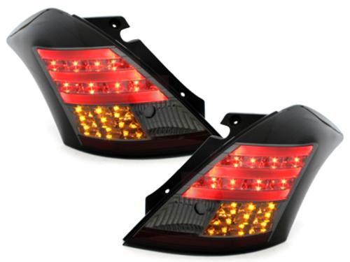Stopuri LED Suzuki Swift 05-09 negru / fumuriu-