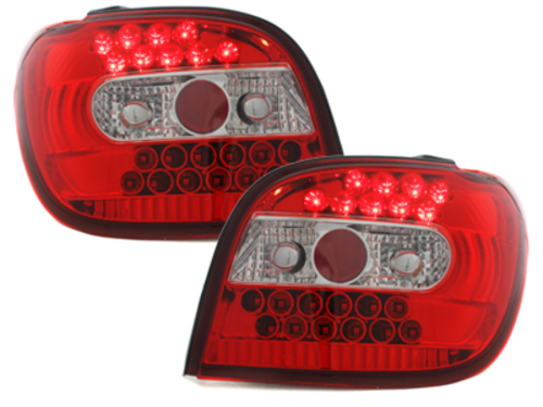 Stopuri LED Toyota Yaris 98-03  rosu/cristal