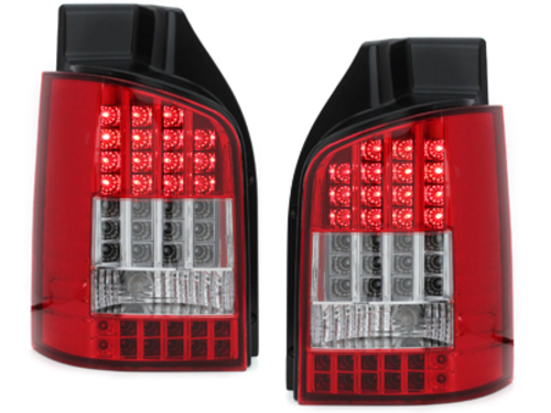 Stopuri LED VW T5  03+  cu LED semnal rosu/cristal