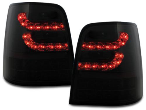 Stopuri LITEC LED VW Touran 2003+ negru/fumuriu