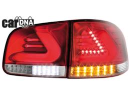 Stopuri LED VW Touareg Lightbar argintiu / rosu / clar CAR DNA
