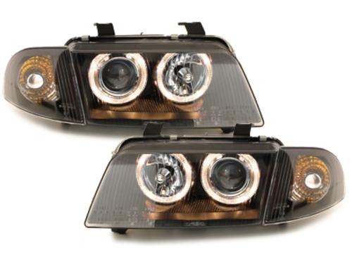 Faruri AUDI A4 B5 95-98   pozitie angel eyes negru - SWA02DB