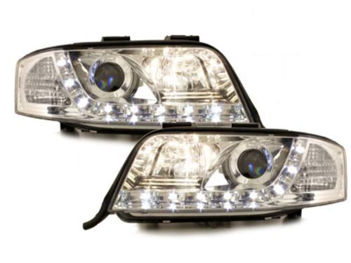 DECTANE DRL look headlight AUDI A6 4B 01-04_drl optic_chrome