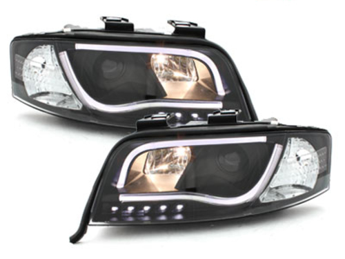 DECTANE evo headlights AUDI A6 4B 97-01_drl_black