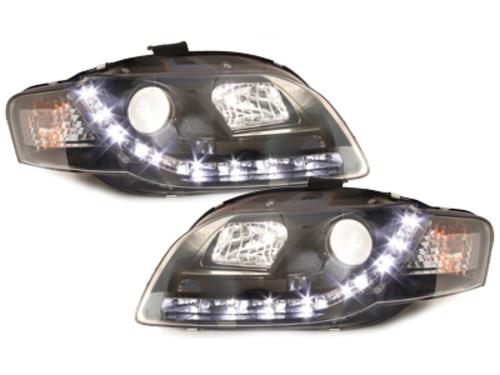 Faruri D-LITE AUDI A4 B7 echipate cu lumina de zi LED negru-