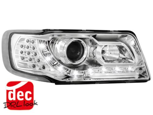 Faruri DAYLINE Audi 100 optic 4C DRL crom-